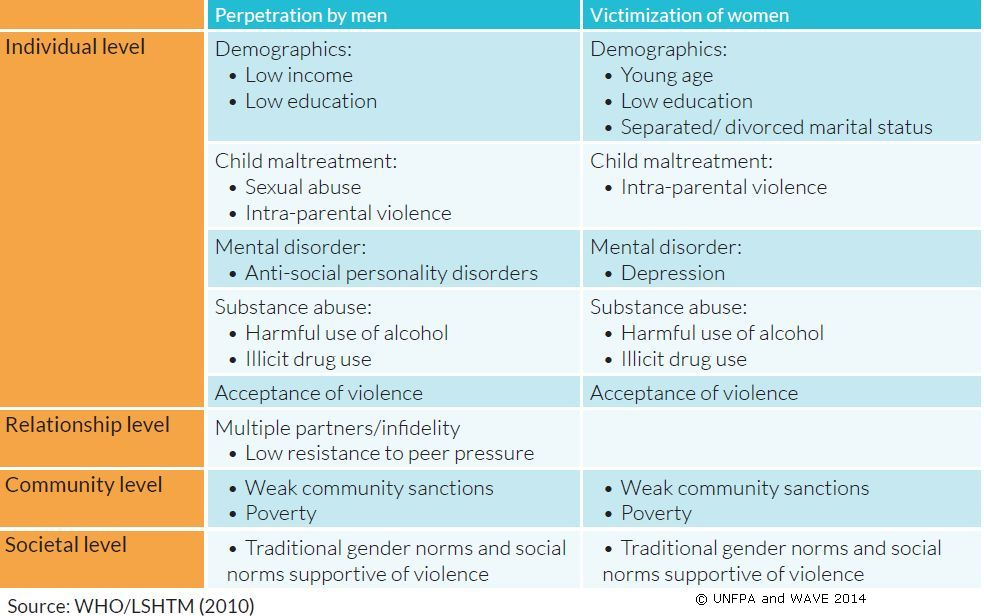Risk factors for sexual assault